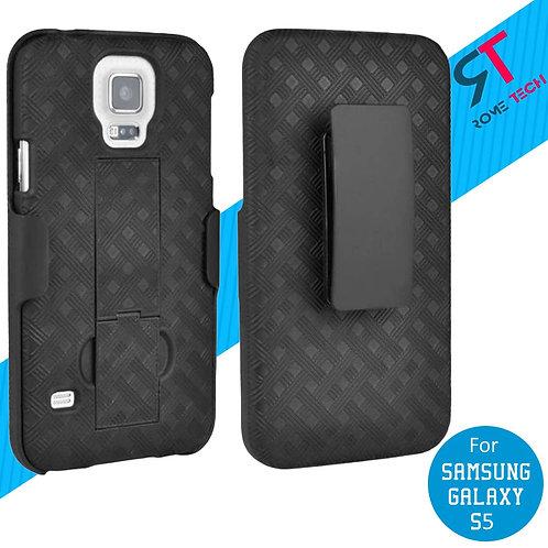 Samsung Galaxy S5 Rome Tech OEM Shell Holster Combo Case - Black