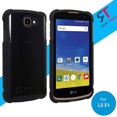 LG K4 Rome Tech OEM Matte Silicone Case Cover Case - Black