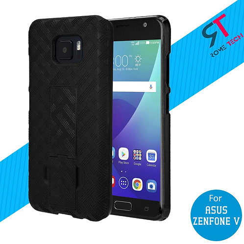 ASUS ZenFone V Rome Tech OEM Shell Holster Combo Case - Black