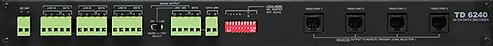 Amperes 24 Zone Speaker Zone Decoder Rear view - TD6240