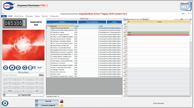 Amperes Music Server Software - PMX II
