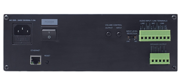 Amperes Ethernet Power Amplifier Terminal Rear View- iPA5120