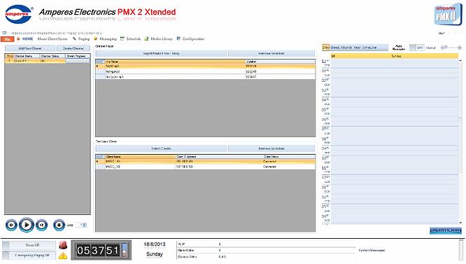 Amperes Network BGM Server Softwar- PMX II LAN