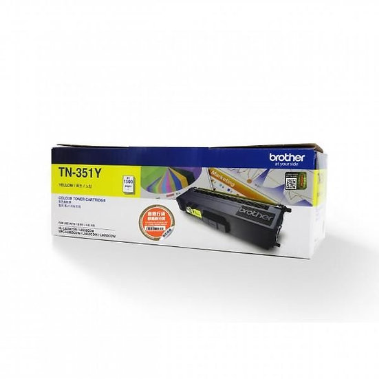 Brother TN-351Y Standard Toner Cartridge Yellow (1500 pages)