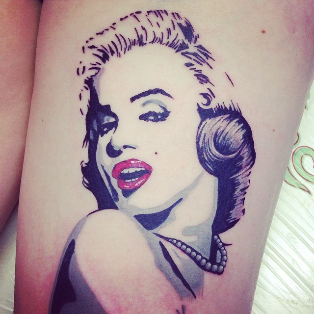 Instagram - Harley's pop art Marilyn #uktta #tattoo #tattoos #tattooed #tattooin