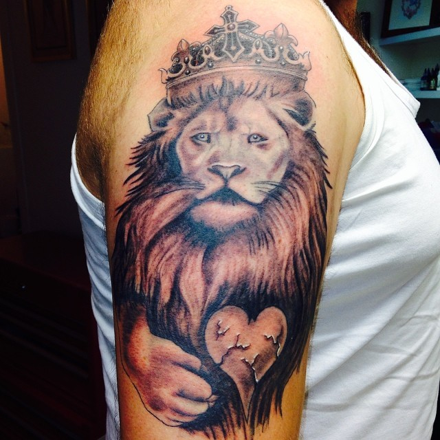 Instagram - Stu's lion all finished #inked_fx #tattoo #tattoos #tattooed #follow