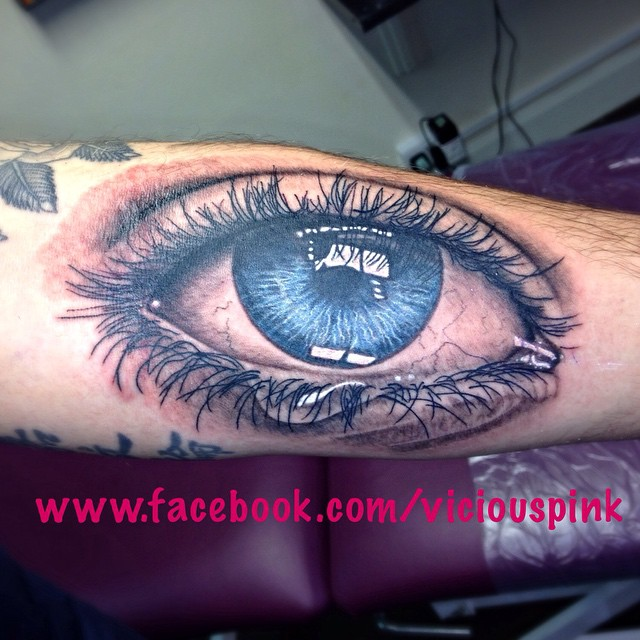 Instagram - Andy's eye on his forearm #eye #tattoo #follow #tattoos #tattooed #t