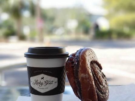 Coffee meets coffee roll