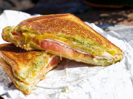 Smoked Turkey Pesto Sandwich