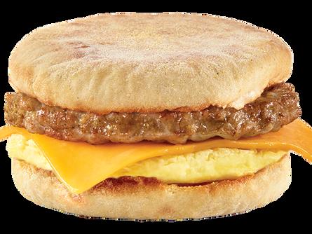 English Muffin Sasusage Egg and Cheese