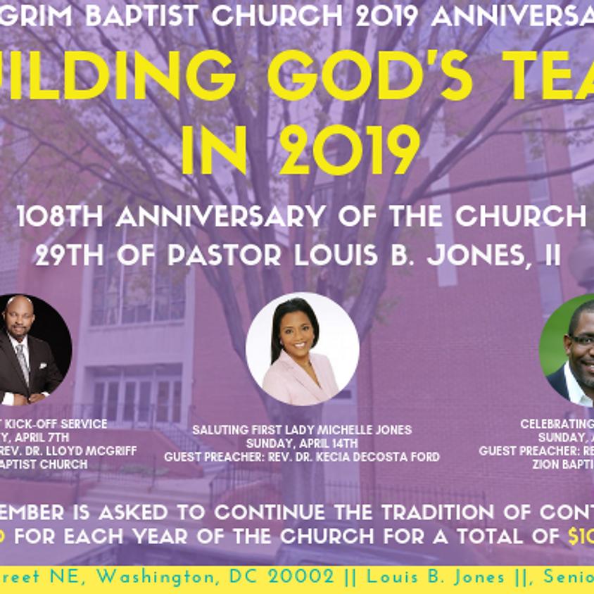 Sunday, April 7th – 108th Church Anniversary