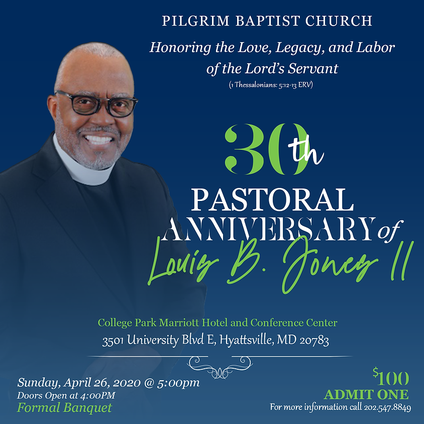 30th Anniversary of Pastor Louis B. Jones II