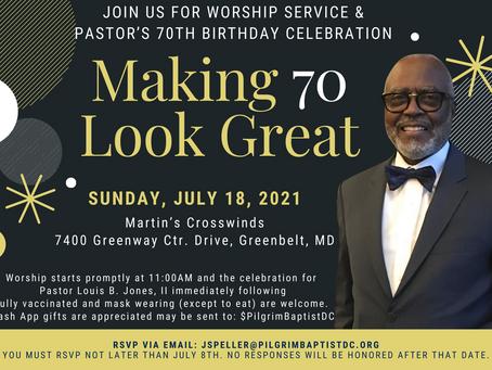 Pastor's 70th Birthday