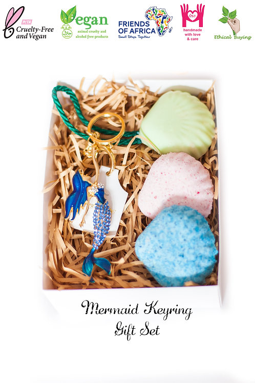 Mermaid Keyring Gift Set