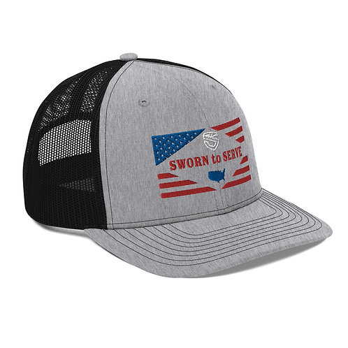 American Flag Trucker Cap