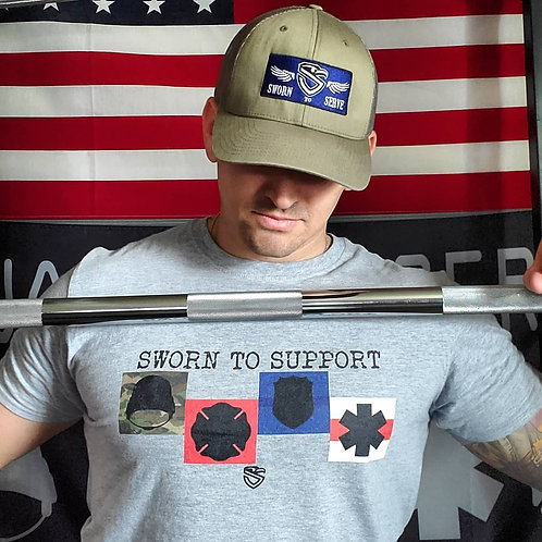 Sworn to Support Badges T-Shirt