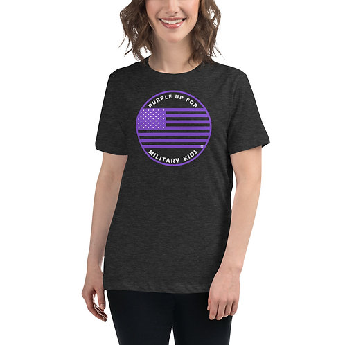 """Women's """"Purple Up for Mil Kids"""" Supporter T-Shirt"""