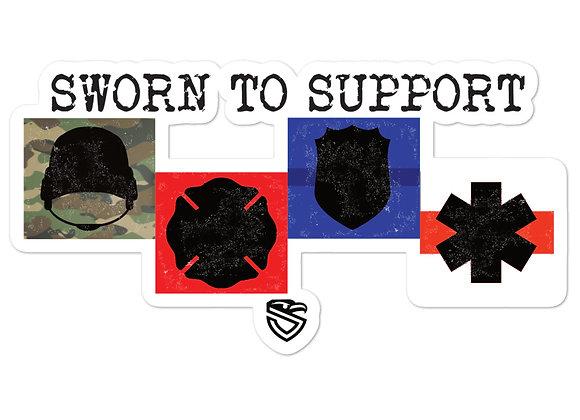 Sworn to Support Badges sticker