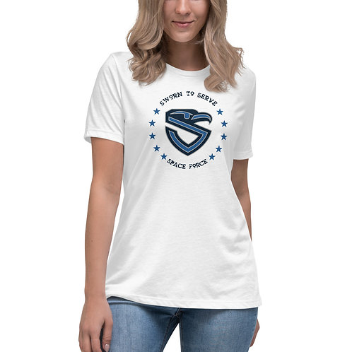 Women's Space Force Shield Relaxed T-Shirt