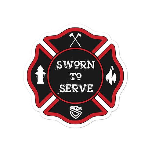 FD Sworn to Serve sticker
