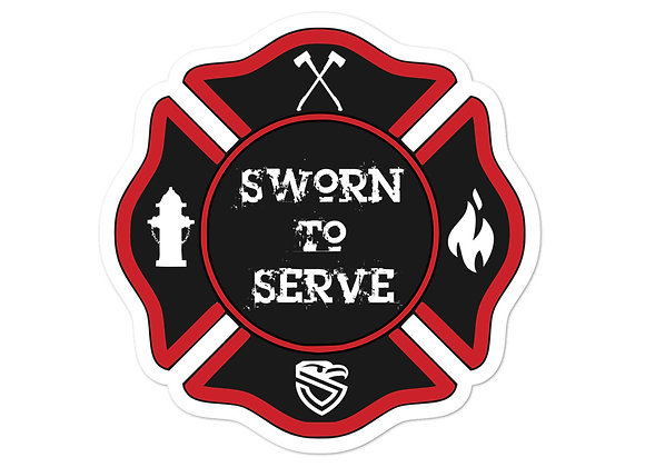 FD Sworn to Serve sticker