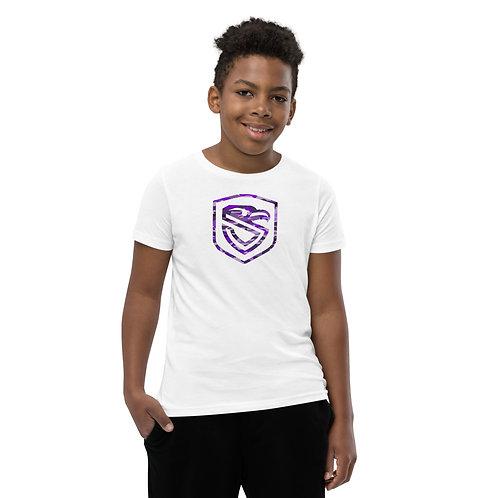 Kiddo Purple Up Camo Shield T-Shirt