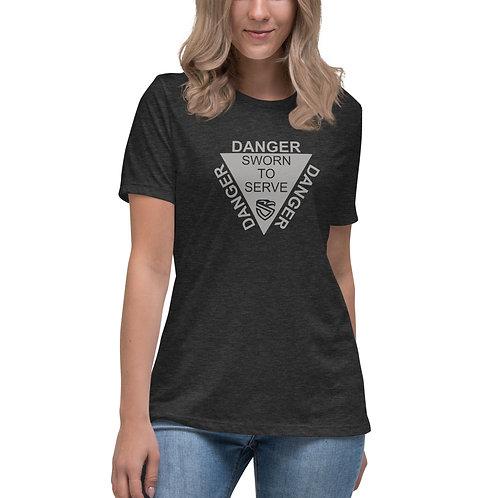 """Women's """"Danger"""" Relaxed T-Shirt"""