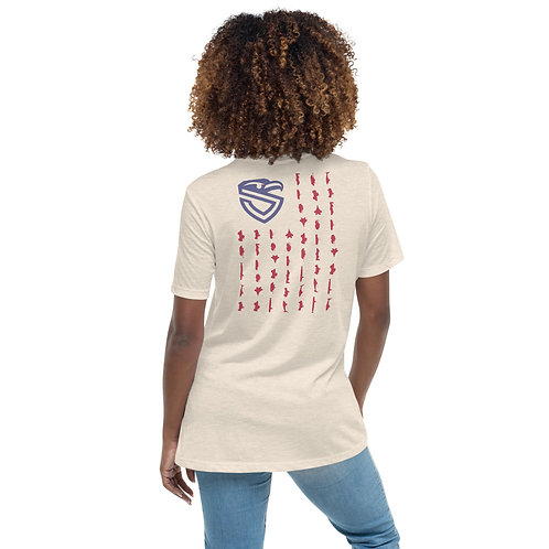 Women's Armed Forces Shield Flag Relaxed T-Shirt