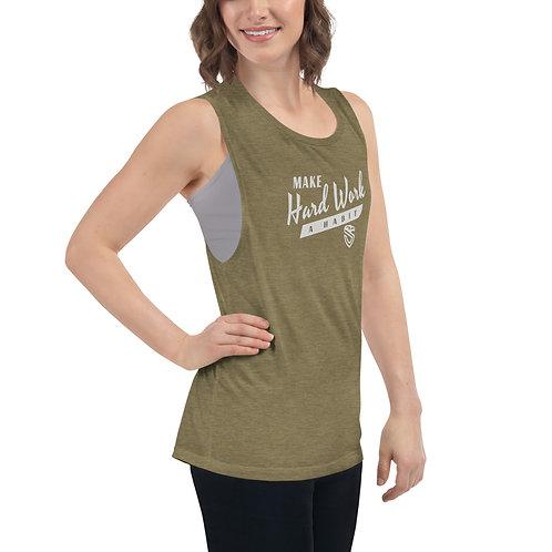 Ladies' Hard Work Habit Muscle Tank