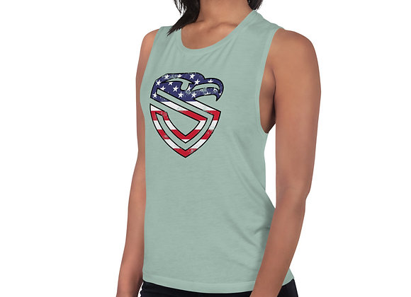 Ladies' American Shield Muscle Tank