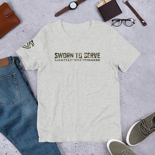 Camo Sworn to Serve T-Shirt