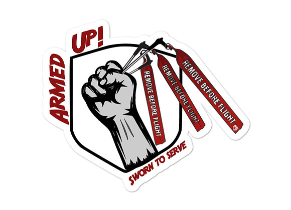 Armed Up! sticker