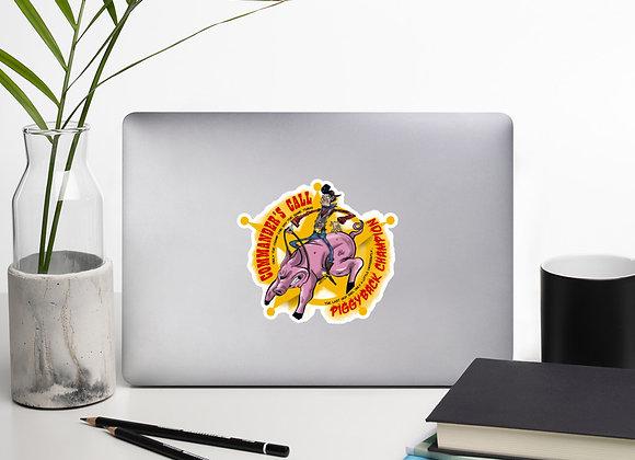 Piggyback Champion sticker