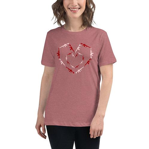 Women's Heart Guns Relaxed T-Shirt