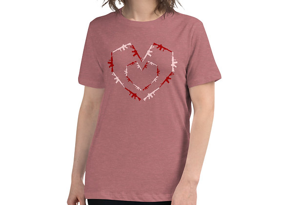 Women's Heart Guns Relaxed T-Shirt