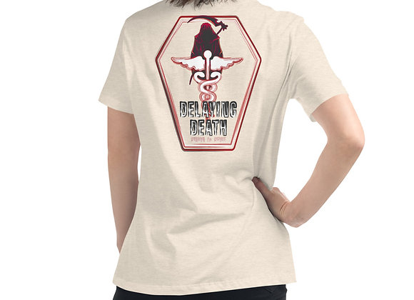 Women's Delaying Death Relaxed T-Shirt