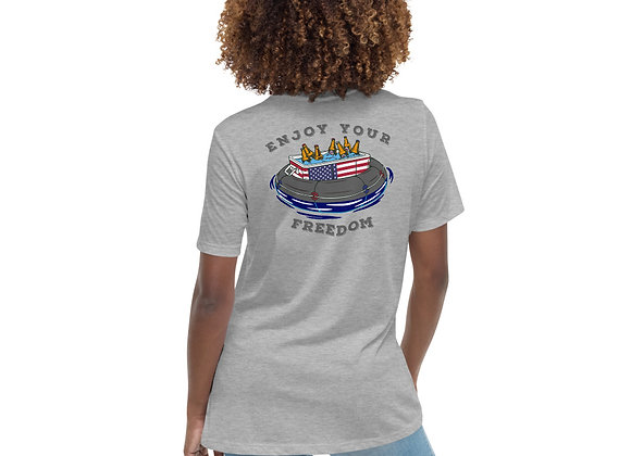 Women's Enjoy Your Freedom Floatin' Relaxed T-Shirt