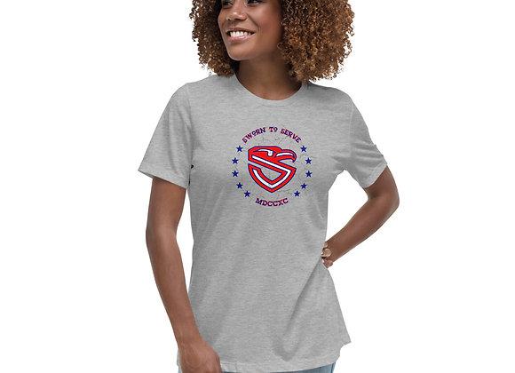 Women's USCG Shield Relaxed T-Shirt