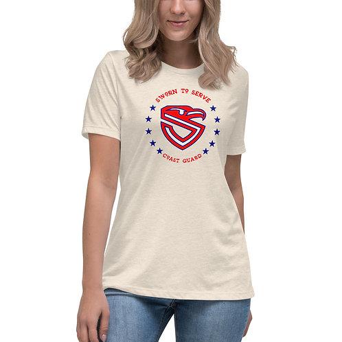 Women's Coast Guard Shield Relaxed T-Shirt