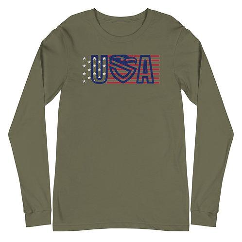 USA Flag Long Sleeve