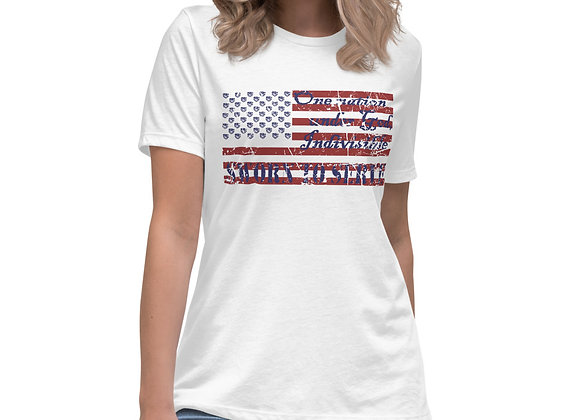 Women's One Nation Under God Relaxed T-Shirt