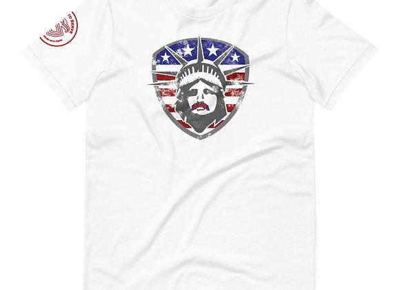 Lady Liberty Stache T-Shirt