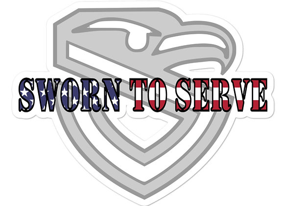 Sworn to Serve sticker