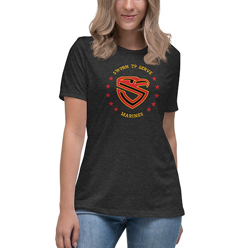 Women's Marines Shield Relaxed T-Shirt