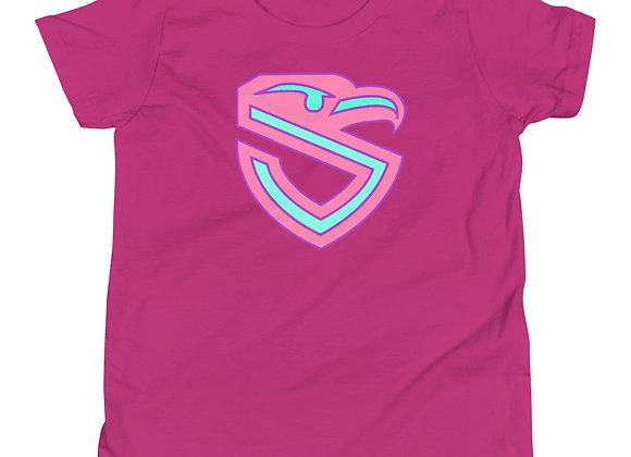 Kiddos Pink & Teal Shield T-Shirt
