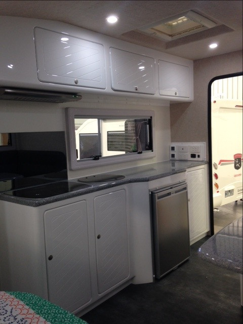 Kitchen including Switch Panel on Rear Wall