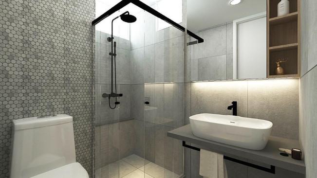 Bathroom toilet interior design