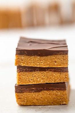 Chocolate Peanut Butter Bars (No Bake)