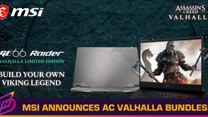 MSI Announces Assassin's Creed Valhalla Bundles, GE66 Raider Valhalla Edition