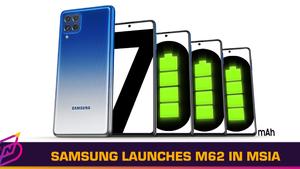 Samsung Launches 7,000mAh Galaxy M62 in Malaysia